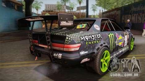 D1GP Toyota Mark II Sunoco Monster para GTA San Andreas esquerda vista