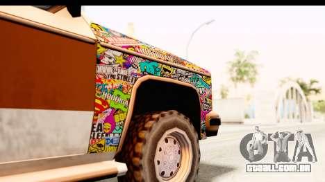 Rancher Sticker Bomb para GTA San Andreas vista traseira