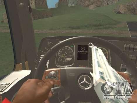 Mercedes-Benz Actros Mp4 6x2 v2.0 Gigaspace v2 para GTA San Andreas vista traseira