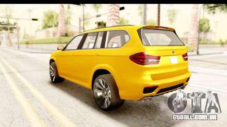 GTA 5 Benefactor XLS IVF para GTA San Andreas traseira esquerda vista