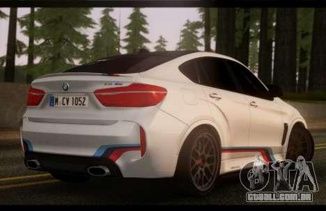 BMW X6M PML ED para GTA San Andreas esquerda vista