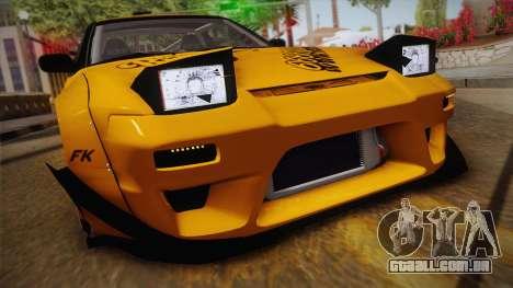 Nissan 180SX Rocket Bunny para GTA San Andreas traseira esquerda vista
