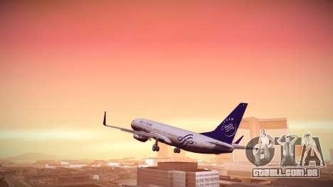 Boeing 737-800 Korean Air Skyteam para GTA San Andreas esquerda vista