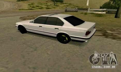 BMW 535i E34G para GTA San Andreas traseira esquerda vista