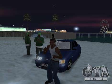 VAZ 2110 Beta Tuning para GTA San Andreas traseira esquerda vista