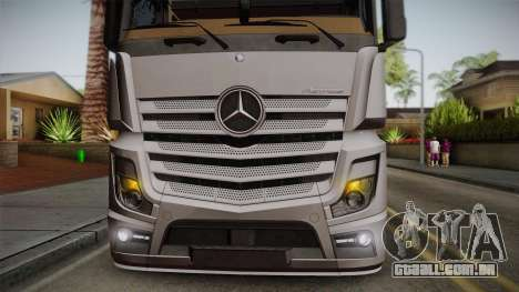 Mercedes-Benz Actros Mp4 4x2 v2.0 Steamspace v2 para GTA San Andreas vista traseira