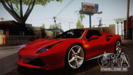 Ferrari 488 Spider para GTA San Andreas vista interior