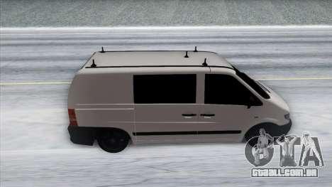 Mercedes-Benz Vito para GTA San Andreas vista interior