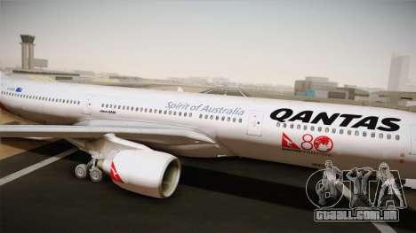 Airbus A330-300 Qantas 80 Years para GTA San Andreas traseira esquerda vista