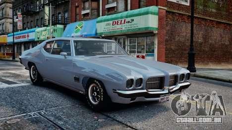 Pontiac LeMans Coupe 1971 para GTA 4 vista interior