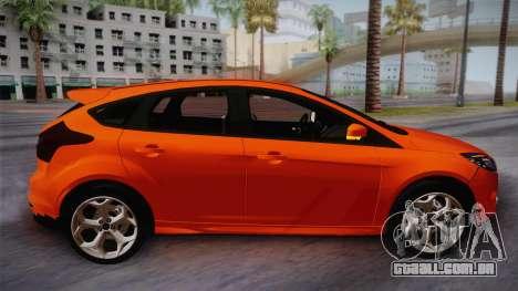 Ford Focus 2012 para GTA San Andreas traseira esquerda vista