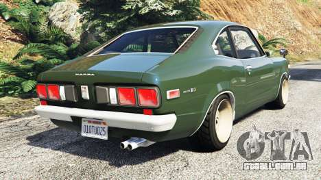 GTA 5 Mazda RX-3 1973 [add-on] traseira vista lateral esquerda