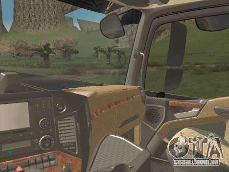 Mercedes-Benz Actros Mp4 6x2 v2.0 Gigaspace v2 para vista lateral GTA San Andreas
