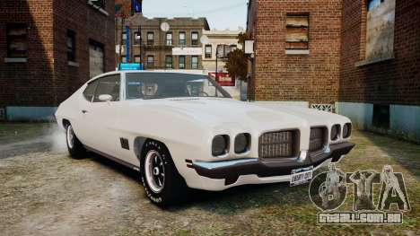 Pontiac LeMans Coupe 1971 para GTA 4 esquerda vista