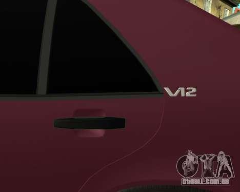 Mercedes S-600 Armenian para GTA San Andreas vista interior
