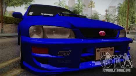 Subaru Impreza WRX STI GC8 1999 v1.0 para GTA San Andreas vista direita