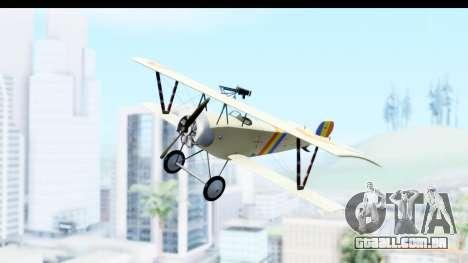 Nieuport 11 Bebe - Nr.865 Romania para GTA San Andreas