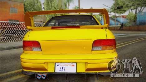 Subaru Impreza WRX STI GC8 1999 v1.0 para GTA San Andreas vista inferior
