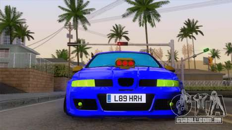 Seat Leon Haur Edition para GTA San Andreas vista traseira
