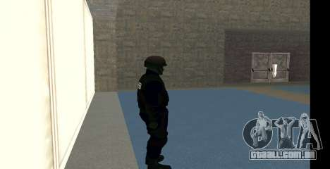GTA 5 FIB SWAT Blue para GTA San Andreas quinto tela