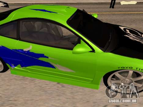 Mitsubishi Eclipse The Fast and the Furious para GTA San Andreas vista direita