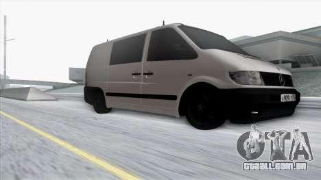 Mercedes-Benz Vito para vista lateral GTA San Andreas
