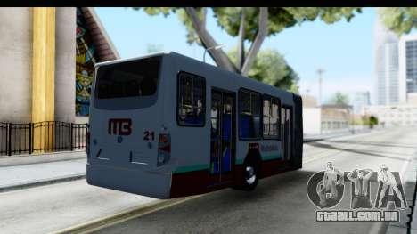 Metrobus de la Ciudad de Mexico Trailer para GTA San Andreas traseira esquerda vista