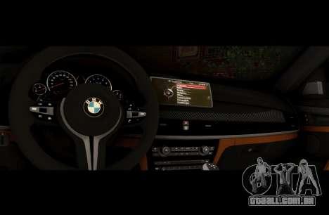 BMW X6M BULKIN ED. para GTA San Andreas vista interior