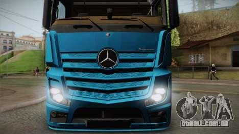 Mercedes-Benz Actros Mp4 6x4 v2.0 Gigaspace v2 para GTA San Andreas traseira esquerda vista