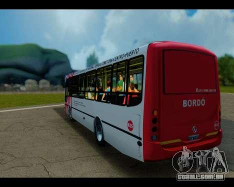 Para a empresa Tronador Linha Burgundy GTA Micro para GTA San Andreas esquerda vista