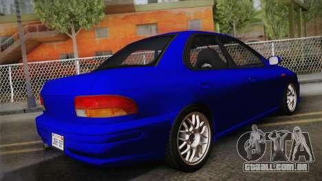 Subaru Impreza WRX STI GC8 1999 v1.0 para GTA San Andreas esquerda vista
