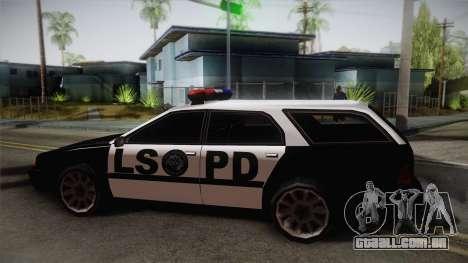Stratum LSPD para GTA San Andreas traseira esquerda vista