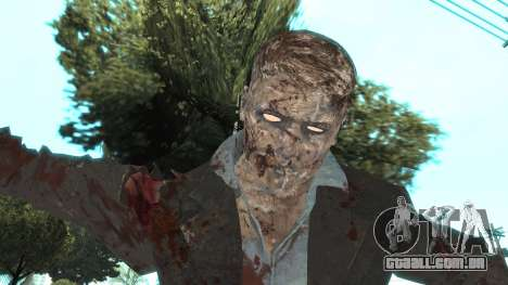 Zombie from Black Ops 3 para GTA San Andreas por diante tela