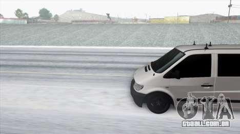 Mercedes-Benz Vito para GTA San Andreas traseira esquerda vista