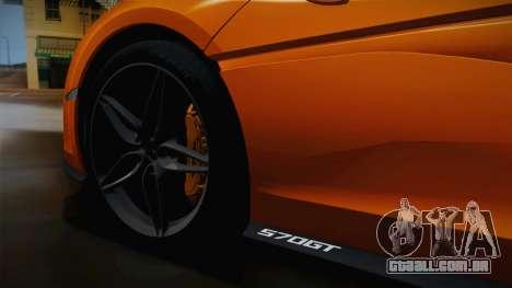 McLaren 570GT 2016 para GTA San Andreas vista traseira