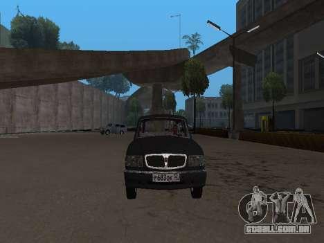 GAZ 310221 para GTA San Andreas esquerda vista