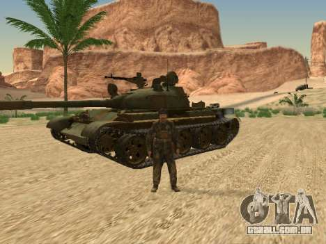 T-62 para GTA San Andreas vista interior