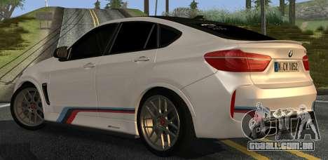 BMW X6M PML ED para GTA San Andreas vista direita