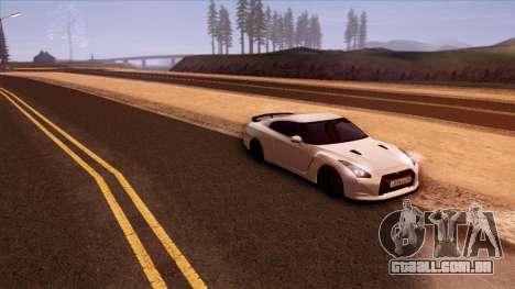 Nissan GT-R R35 para vista lateral GTA San Andreas