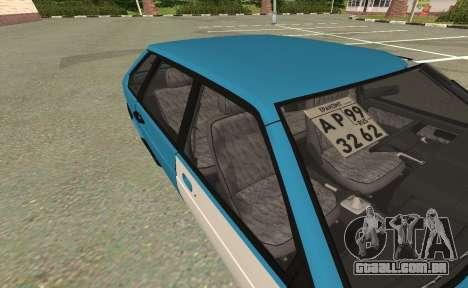 2109 para GTA San Andreas traseira esquerda vista
