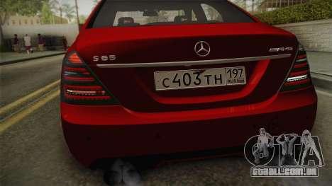 Mercedes-Benz W221 S65 Stance v2 para GTA San Andreas vista direita