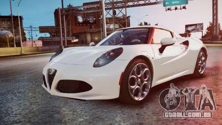 Alfa Romeo 4C 2016 para GTA 4