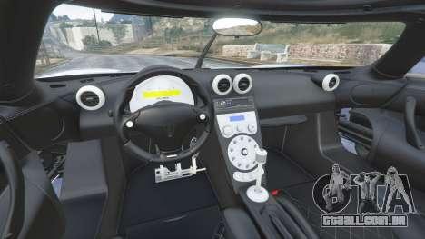 GTA 5 Koenigsegg CCX 2006 [Autovista] [replace] frente vista lateral direita