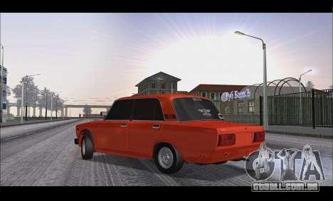 VAZ 2105 patch v3 para GTA San Andreas esquerda vista