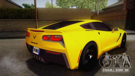 Chevrolet Corvette Stingray 2015 para GTA San Andreas esquerda vista