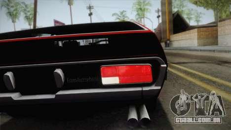 Lamborghini Espada S3 39 1972 para GTA San Andreas vista traseira