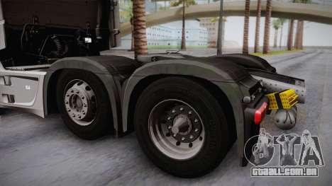 Mercedes-Benz Actros Mp4 6x2 v2.0 Steamspace para GTA San Andreas vista direita
