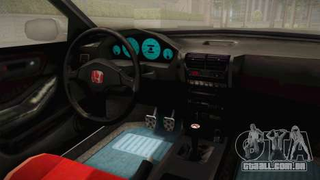 Honda Integra Type R para GTA San Andreas vista interior