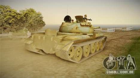 T-62 Desert Camo v2 para GTA San Andreas vista direita