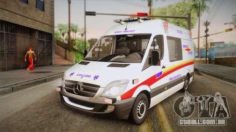 Mercedes-Benz Sprinter 2012 SA EMS Alliance para GTA San Andreas